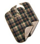 BIB, ADULT, IMPERVIOUS, SNAP, TARTAN, 21X33 (1/DZN)