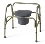 COMMODE, EXTRA WIDE, 24IN WIDE, 650 LB CAP