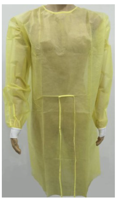 Protective Procedure Gown Yellow Adult One Size Fits Most Yellow NonSterile  10/bag/5bgs/case (50gowns/CS)