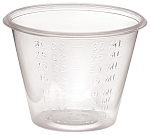 Graduated Medicine Cup 1 oz. Clear Plastic Disposable  with LIP 1OZ (100/SL)