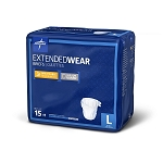 BRIEFS EXT-WEAR -Overnight : LG, 41-59