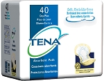 INSERT  Pad TENA  DAY/NIGHT TIME  YELLOW DRY COMFORT 16 Inch Length Heavy Absorbency 80/CASE 2BGS/CS