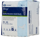 Unisex Adult Incontinence Brief Wings™ Bariatric Tab Closure 3X-Large Disposable Heavy Absorbency  (8/BG 4BG/CS)