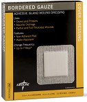 Gauze, Bordered, Sterile Adhesive Island Wound Dressing, 6