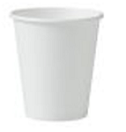 Drinking Cup Solo® 4 oz. White Polyethylene Coated Paper Disposable CUP (1000/case)