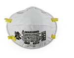 MASK N95 INDUSTRIAL MED RESPIRATOR PARTICULATE Mask 3M™ Industrial N95 Cup Elastic Strap One Size Fits Most White NonSterile  20/pack