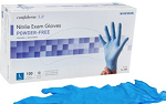 NITRILE Exam GLOVE -MEDIUM - Confiderm® NonSterile Powder Free Textured Fingertips Blue Chemo Rated  (1000/CS