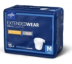 BRIEFS EXT-WEAR -Overnight: MED, 27-43