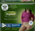 Pull-ups  FIT-FLEX Max Absorbency Underwear for Women LARGE  84/case